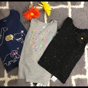 Girl Tops Size 5 NWT Adidas And Carter's